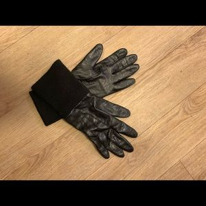 Accessories - Leather gloves with long sleeve